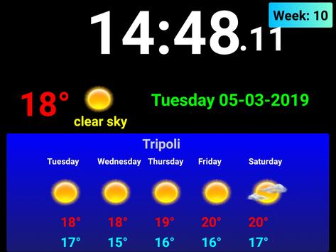 Full screen digital clock with weather station screenshot 6