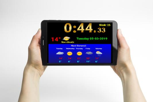 Full screen digital clock with weather station screenshot 7