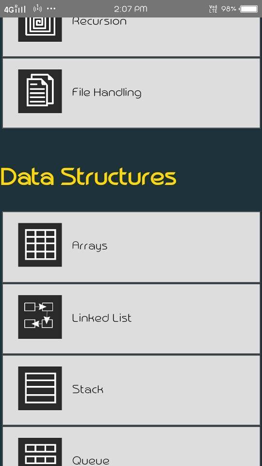 C Programs and Data Structures for Android - APK Download