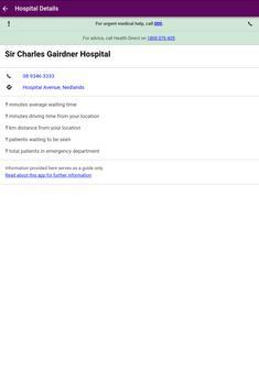 WA Emergency Waiting Times screenshot 3