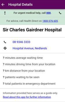 WA Emergency Waiting Times screenshot 1