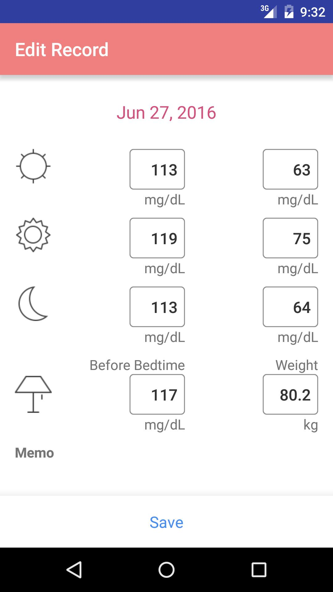 Simple Blood Glucose Note For Android Apk Download