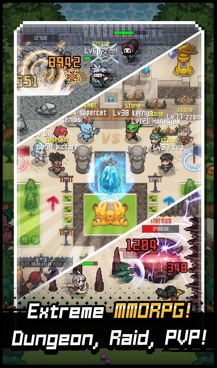 Grow Stone Online : 2d pixel RPG, MMORPG game for Android
