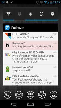 Pushover capture d'écran 3