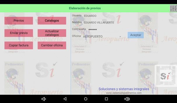 Previo pedimentos SIPED screenshot 4