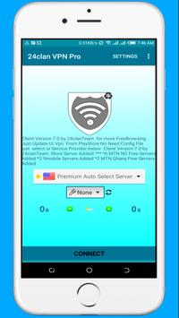 24clan VPN Pro - Free Internet For All Countries screenshot 1