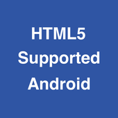 HTML5 Supported for Android आइकन