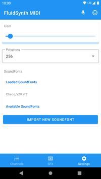 FluidSynth MIDI स्क्रीनशॉट 3