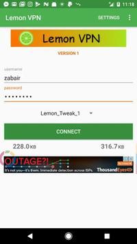 Lemon VPN screenshot 1