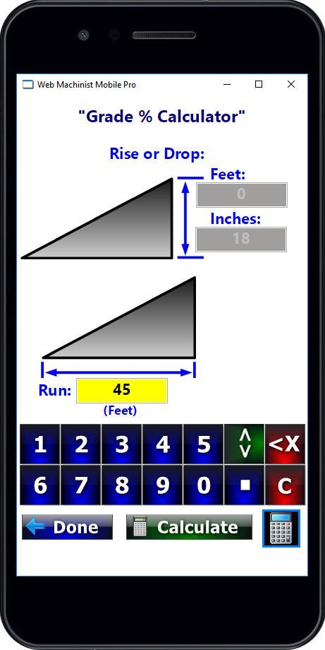 Grade Slope Drop Percentage Excavation Calculators for