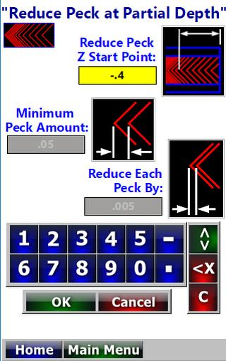 CNC Lathe Deep Hole Drill Peck Calculator for Android - APK