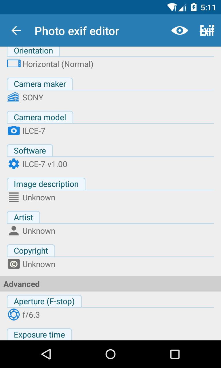 Photo Exif Editor - Metadata Editor for Android - APK Download