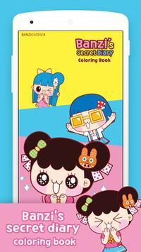 Banzi's Secret Diary Coloring Book poster