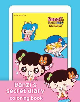 Banzi's Secret Diary Coloring Book screenshot 11
