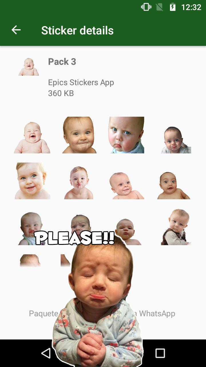 Wastickerapps Bebes Caras Graciosas Con Frases For Android