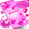 2019 lovely pink live wallpaper icon