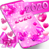 2020 lovely pink live wallpaper icon