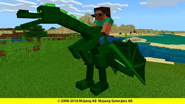 Dragons mounts for minecraft addon poster