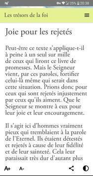 Les Trésors de la Foi (méditations bibliques) تصوير الشاشة 7