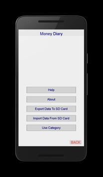 Easy Money Diary screenshot 2