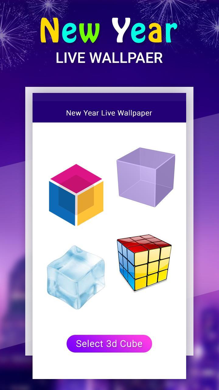 3d Cube Live Wallpaper For New Year 2020 For Android Apk