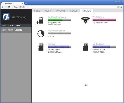 WebSharingLite (File Manager) captura de pantalla 5