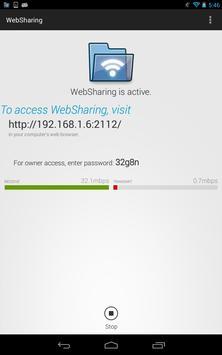 WebSharingLite (File Manager) captura de pantalla 6