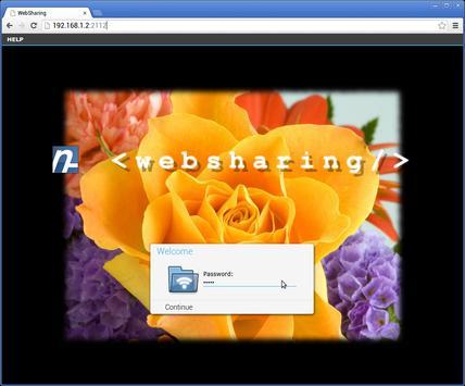 WebSharingLite (File Manager) captura de pantalla 1