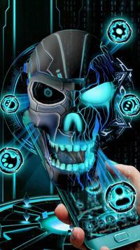 Neon Tech Evil Skull 3D Theme screenshot 2