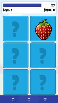 Fruits Memory Game screenshot 1