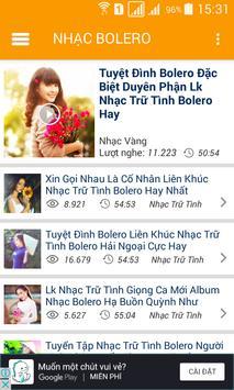 Nhac Vang - Nhac Tru Tinh Bolero screenshot 13