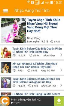 Nhac Vang - Nhac Tru Tinh Bolero screenshot 1