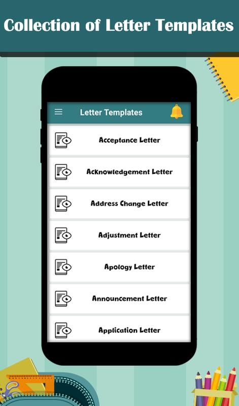 letter templates poster