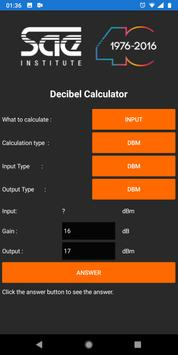 SAE Decibels Calculator poster