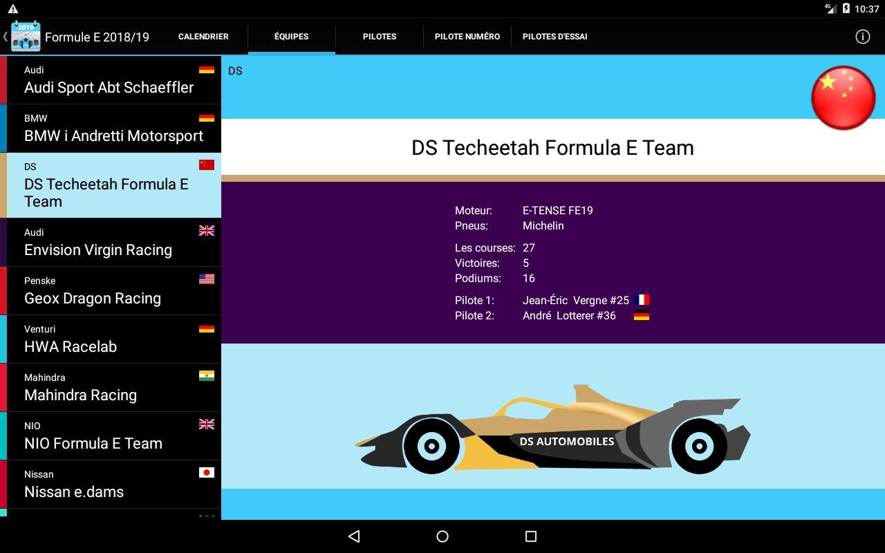 Calendrier Formule E 2020.Formule E 2020 Pas De Pub Pour Android Telechargez L Apk
