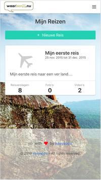 WaarBenJij.nu - Reisblog maken - Gratis screenshot 1