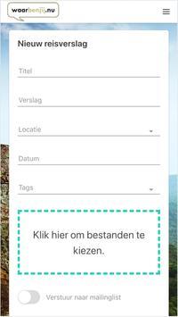 WaarBenJij.nu - Reisblog maken - Gratis screenshot 2