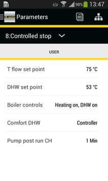 Remeha Smart Service App تصوير الشاشة 2