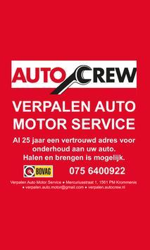 Verpalen auto motor service poster