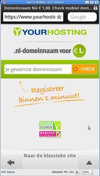 Yourhosting domeinnaam checker poster