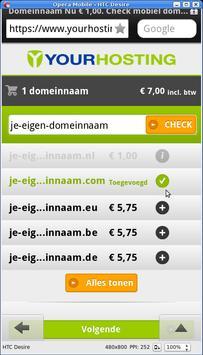 Yourhosting domeinnaam checker screenshot 1