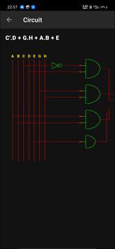 Boolean Logic Minimizer | Kmap solver | Bin Hex screenshot 2