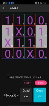 Boolean Logic Minimizer | Kmap solver | Bin Hex screenshot 3