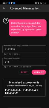 Boolean Logic Minimizer | Kmap solver | Bin Hex screenshot 5