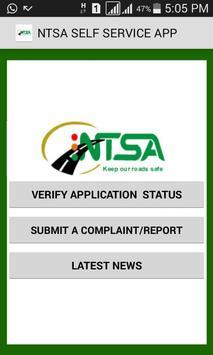 NTSA  APP poster