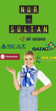 Online timetable Airport Astana Nursultan TSE poster
