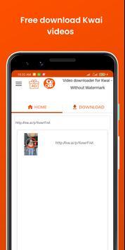 Downloader de vídeo para Kwai - Sem marca d'água imagem de tela 2