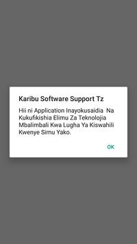 Software Support Tanzania poster