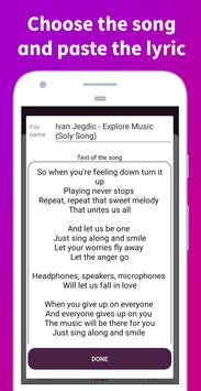 Soly - Lyrics Generator | LRC Editor, LRC Player screenshot 18