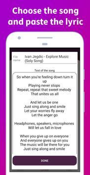 Soly - Lyrics Generator | LRC Editor, LRC Player screenshot 10